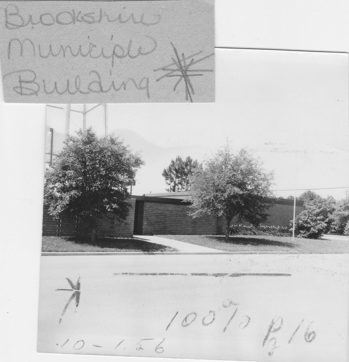Brookshire Municiple Building 1956